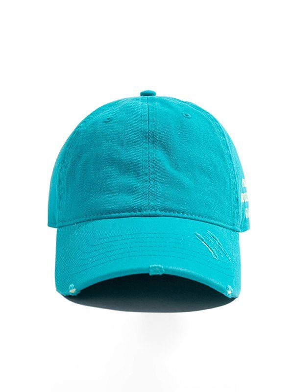 Distressed Washed Baseball Hat - Blue ONE SIZE