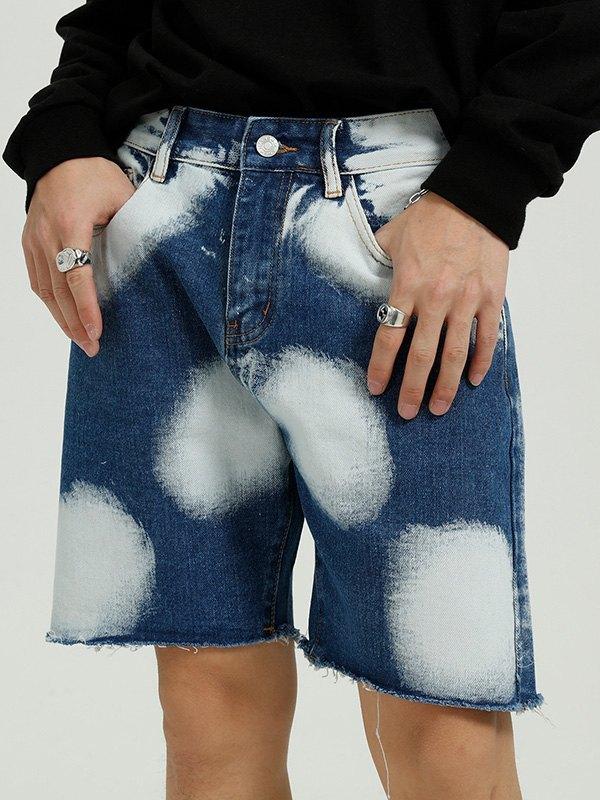 Men's Bleached Skate Denim Shorts - Blue M
