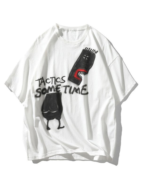 Men's Tactic Sometime Painted Tee - White 2XL