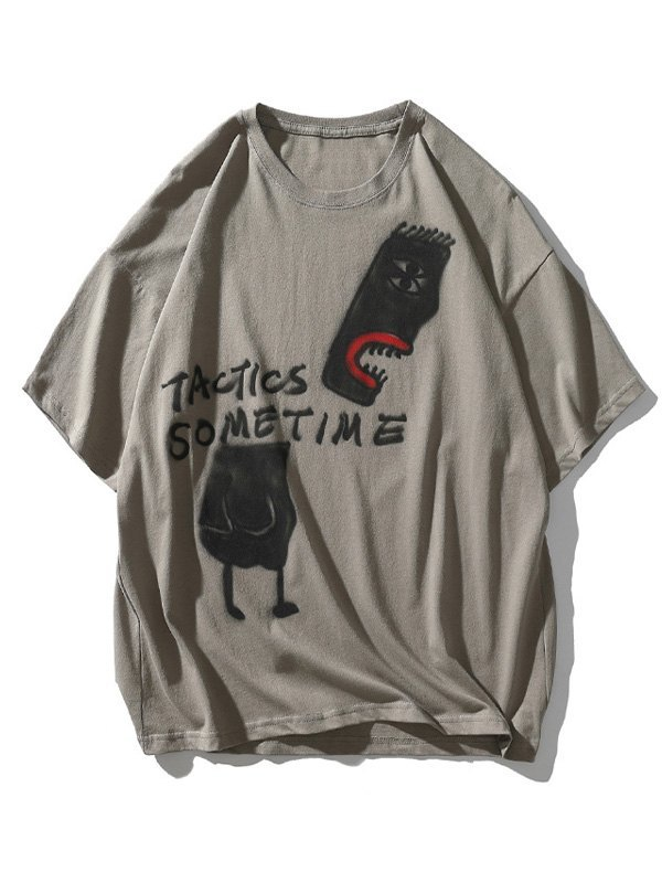Men's Tactic Sometime Painted Tee - Gray 2XL