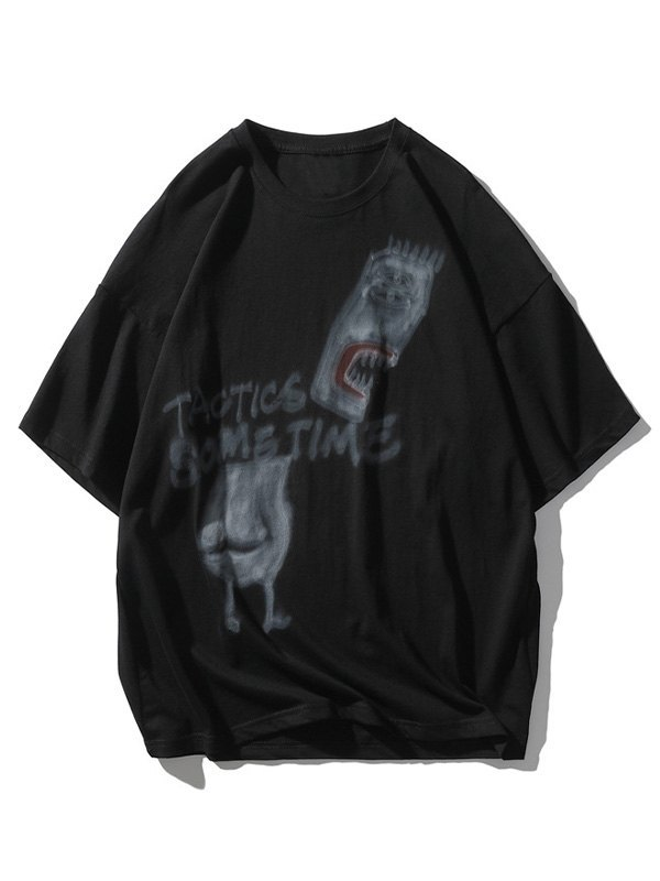Men's Tactic Sometime Painted Tee - Black 2XL
