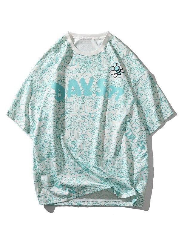 Men's Bees Day Graphic Tee - Green L