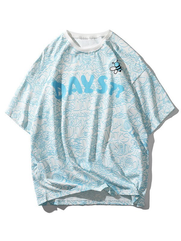 Men's Bees Day Graphic Tee - Blue L