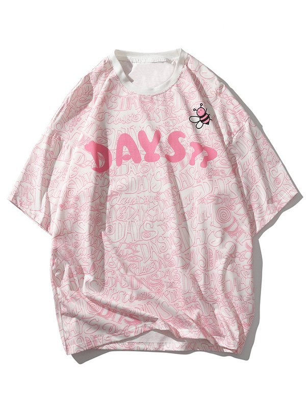 Men's Bees Day Graphic Tee - Pink L