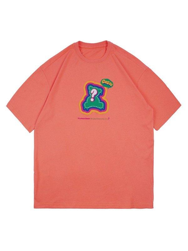 Men's Bear Graphic Short Sleeve Tee - Orange XL