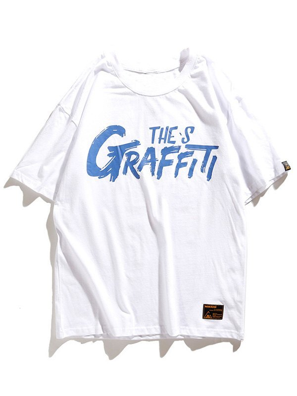 Men's Graffiti Octopus Graphic Tee - White XL