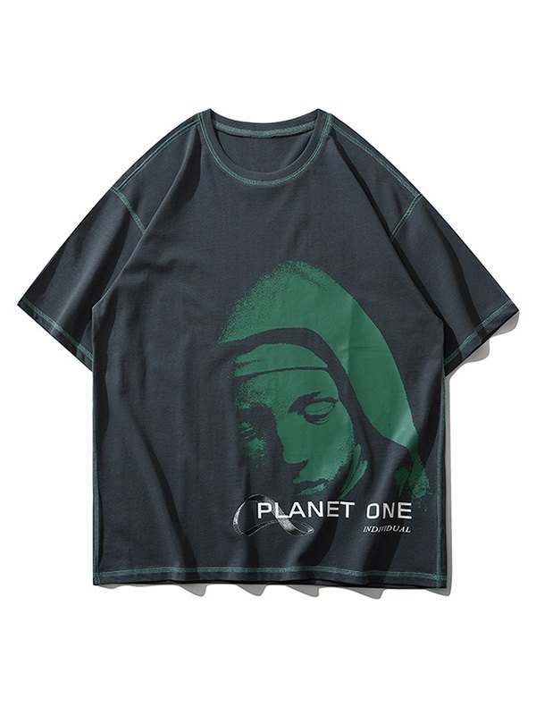 Men's Sleepy Planet Printed Tee - Gray XL