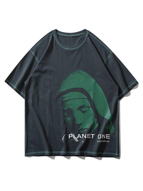 Men's Sleepy Planet Printed Tee - Gray L