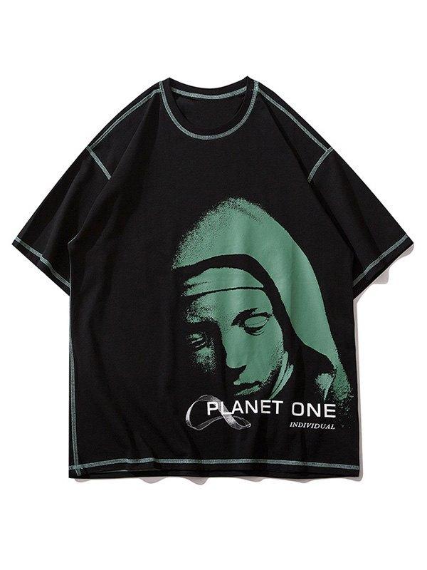 Men's Sleepy Planet Printed Tee - Black M