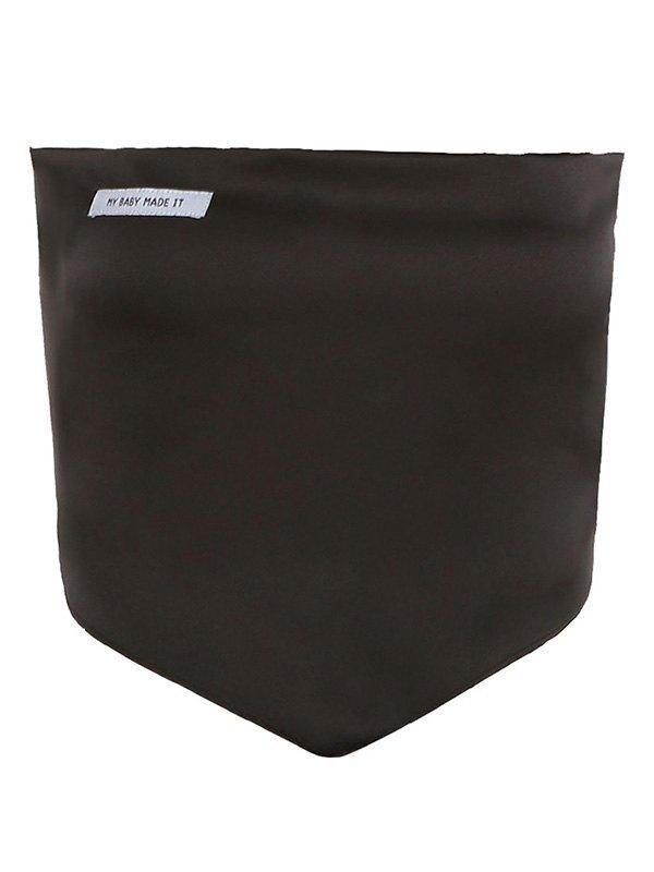 Asymmetric Patched Bandeau Top - Black S