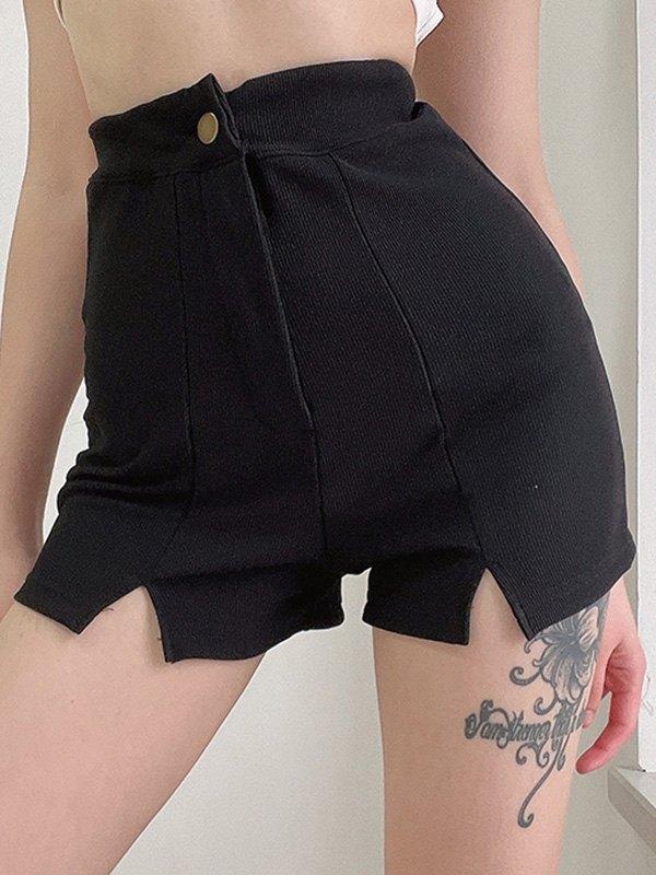 Vintage Split Hot Shorts - Black S
