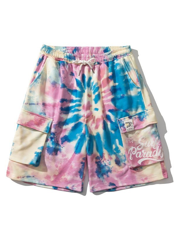 Men's Tie-Dye Sweat Shorts - As The Picture M