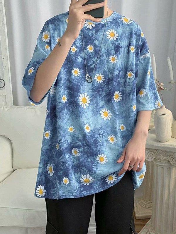 Men's Daisy Tie-Dye Tee - Blue XL
