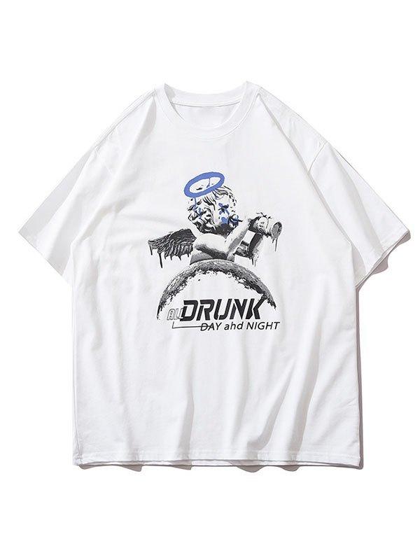 Men's Drunk Cherub Graphic Tee - White XL