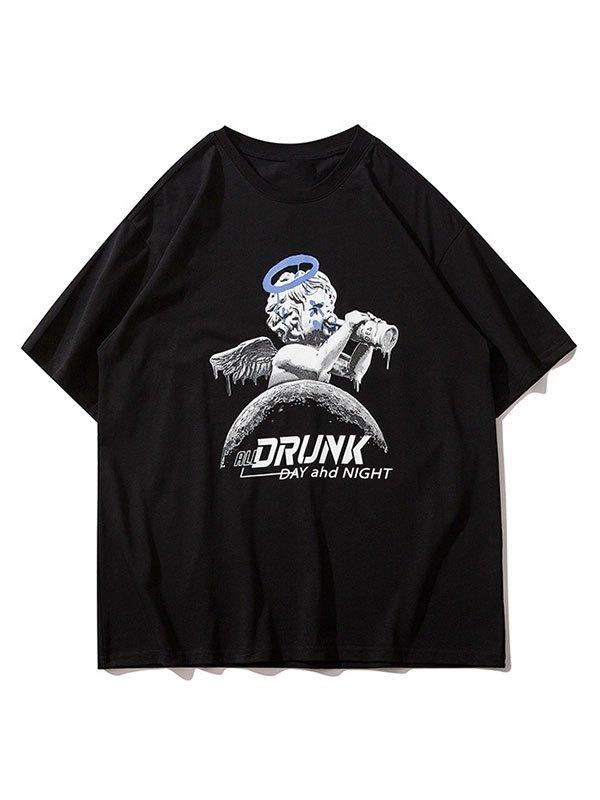 Men's Drunk Cherub Graphic Tee - Black M