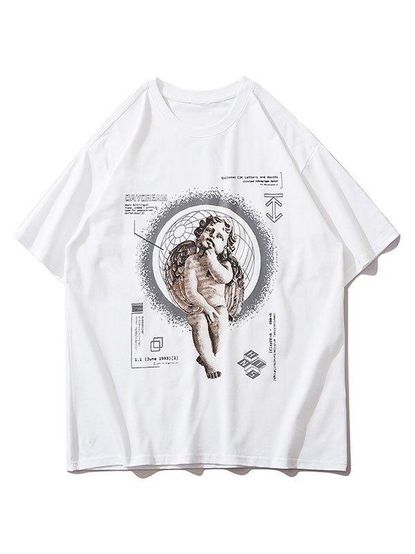Men's Daydream Cherub Graphic Tee - White L