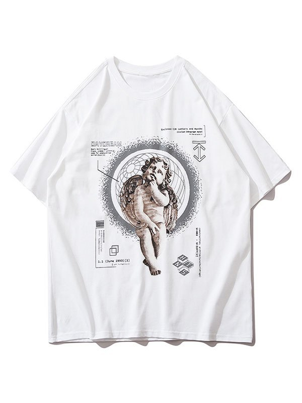 Men's Daydream Cherub Graphic Tee - White M