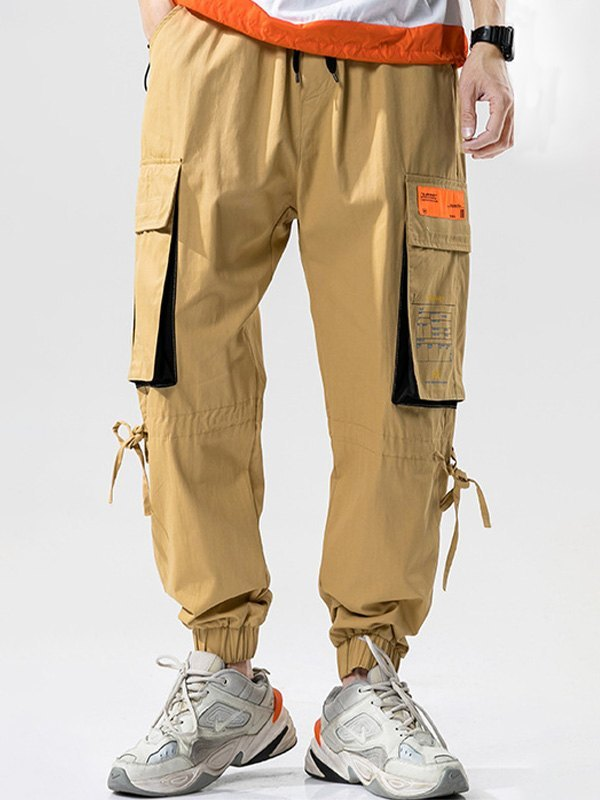 Men's Multi Pocket Cargo Pants - Khaki 2XL