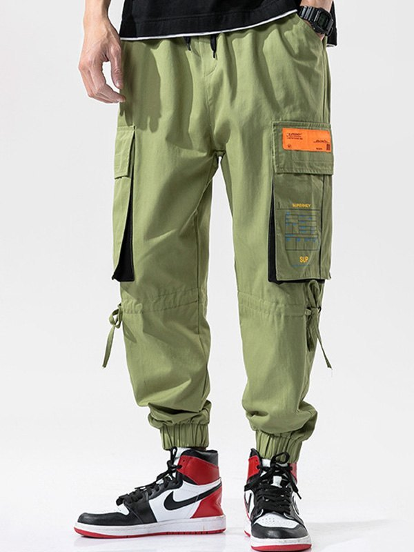 Men's Multi Pocket Cargo Pants - Green L