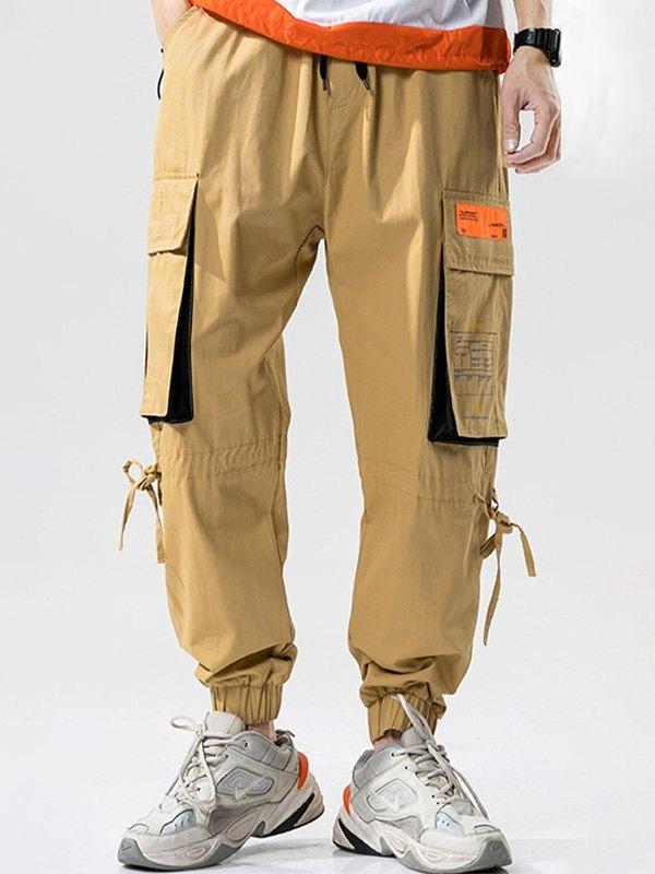 Men's Multi Pocket Cargo Pants - Khaki 4XL