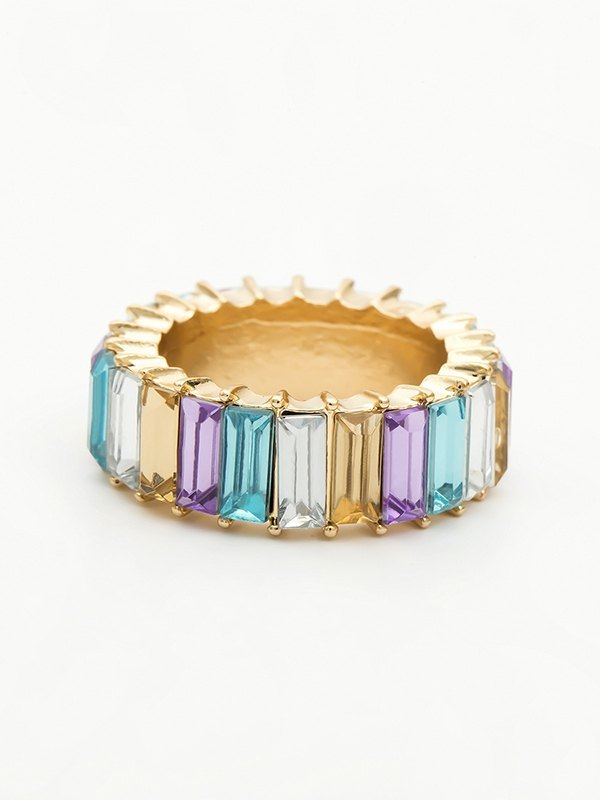 Vertical Glass Ring - Mixcolor ONE SIZE