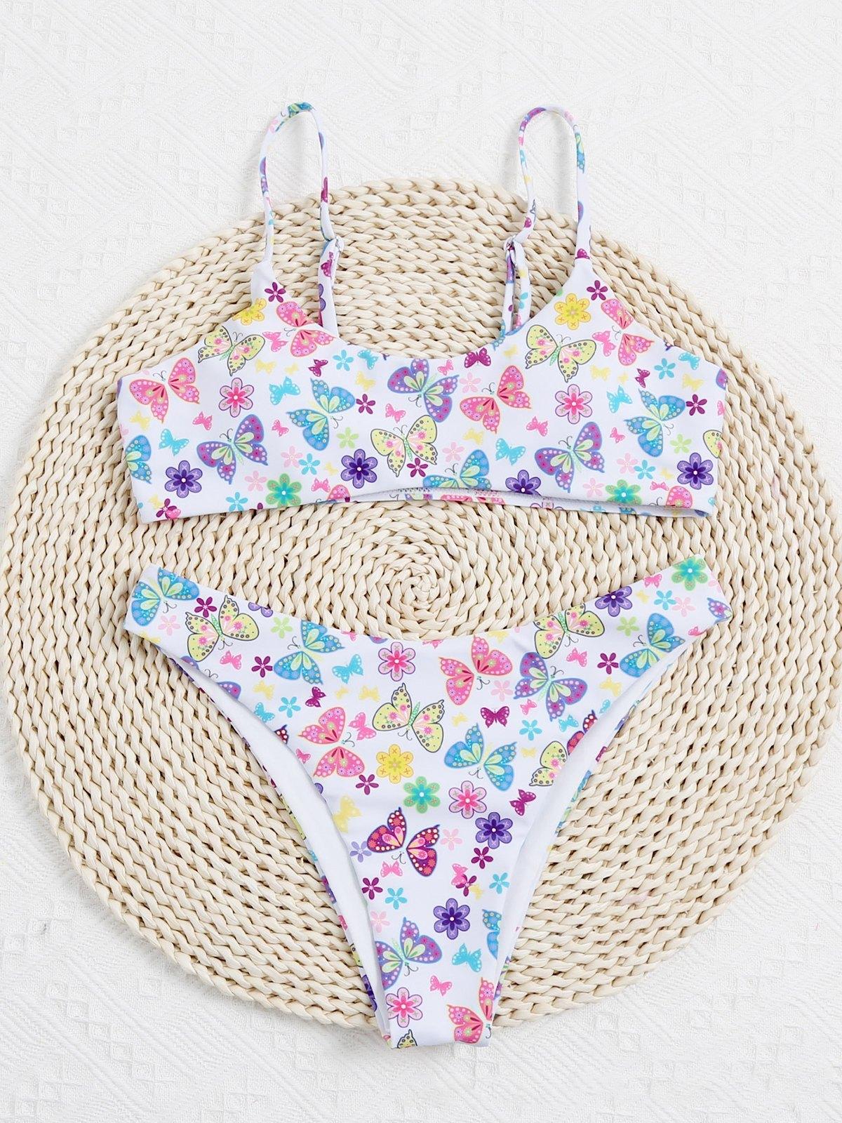 Butterfly Bikini Swimsuit - Mixcolor L