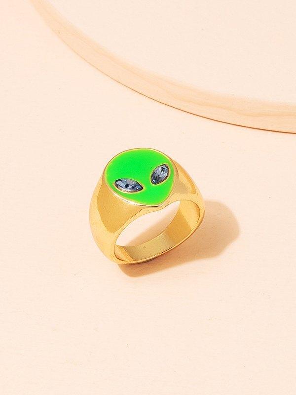 Alien Decor Ring - Green ONE SIZE