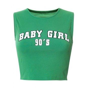 90S Baby Girl Crop Trägershirt