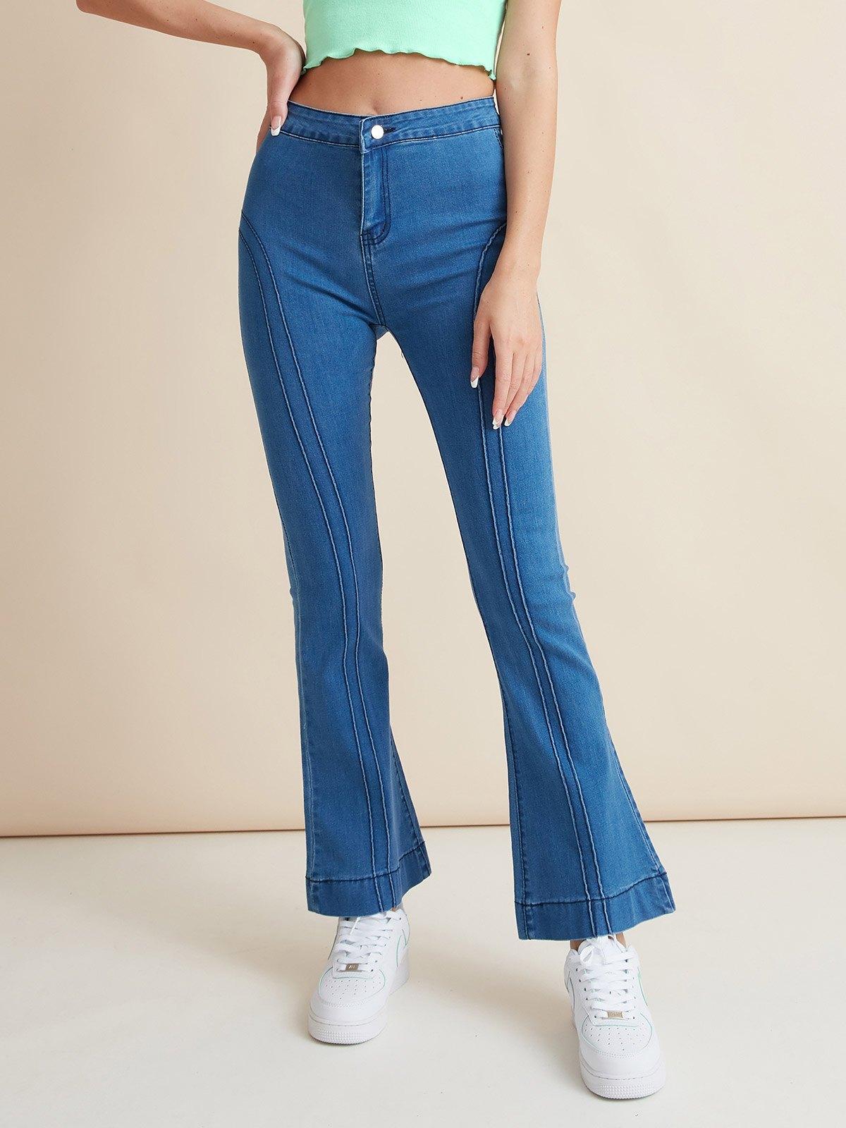 Vintage Mid Rise Slim Jeans -