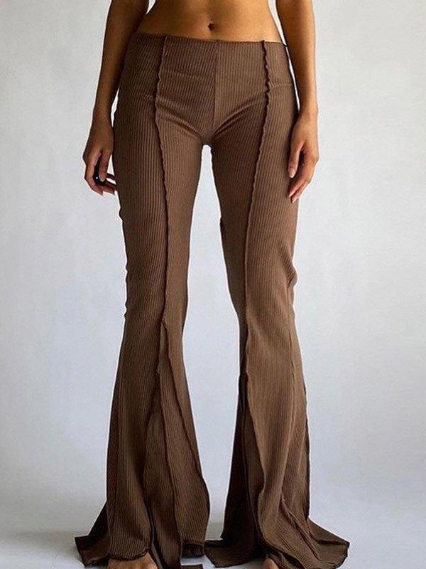 Pantalones acampanados con detalle de costuras -