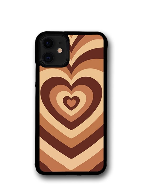 Heart-shaped Pattern Iphone Cases - Brown iPhone 11Pro Max