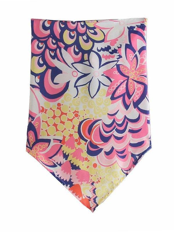Floral Print Bandeau Top -