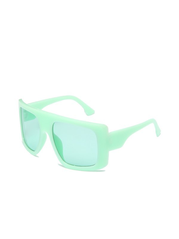 Oversized Square Sunglasses - Green ONE SIZE