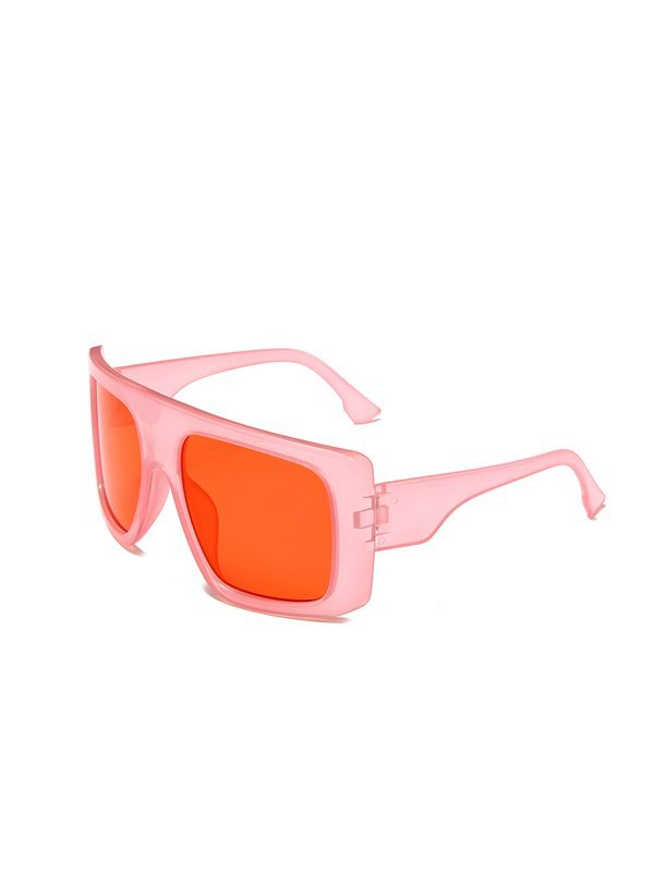 Oversized Square Sunglasses - Pink ONE SIZE