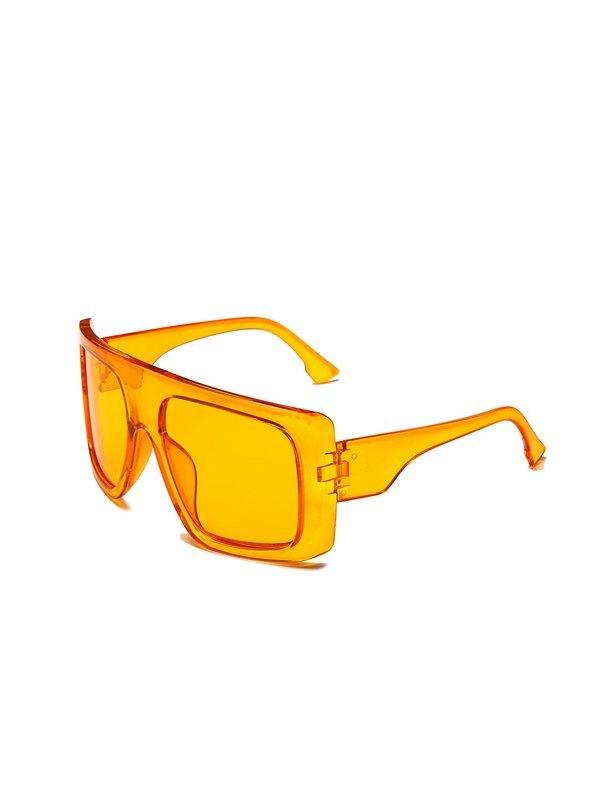 Oversized Square Sunglasses - Orange ONE SIZE
