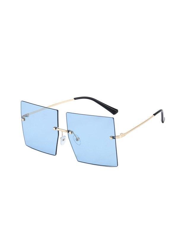 Oversized Square Sunglasses - Blue ONE SIZE