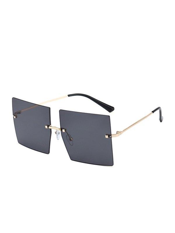 Oversized Square Sunglasses - Black ONE SIZE