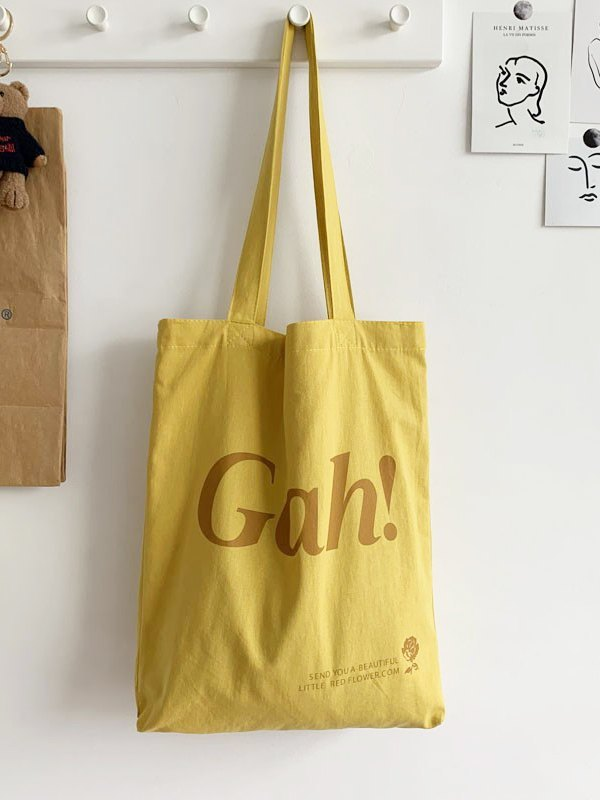 Letter High Capacity Shopping Bag - Yellow ONE SIZE