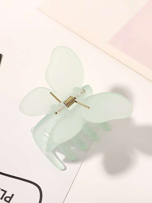 Acrylic Butterfly Claw Clip - Green ONE SIZE