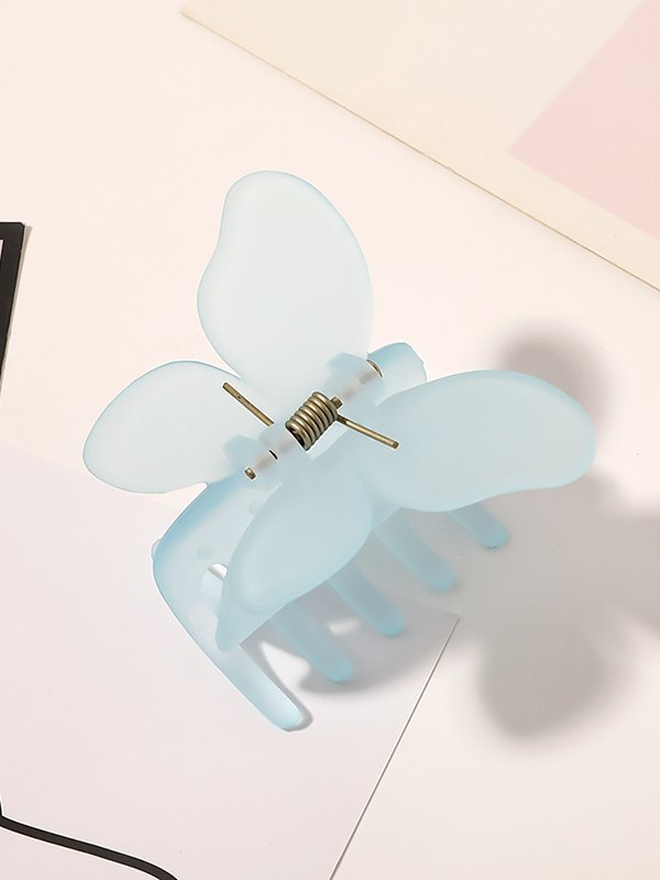 Acrylic Butterfly Claw Clip - Blue ONE SIZE