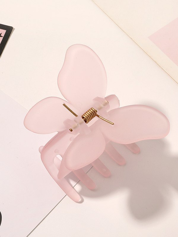 Acrylic Butterfly Claw Clip - Pink ONE SIZE