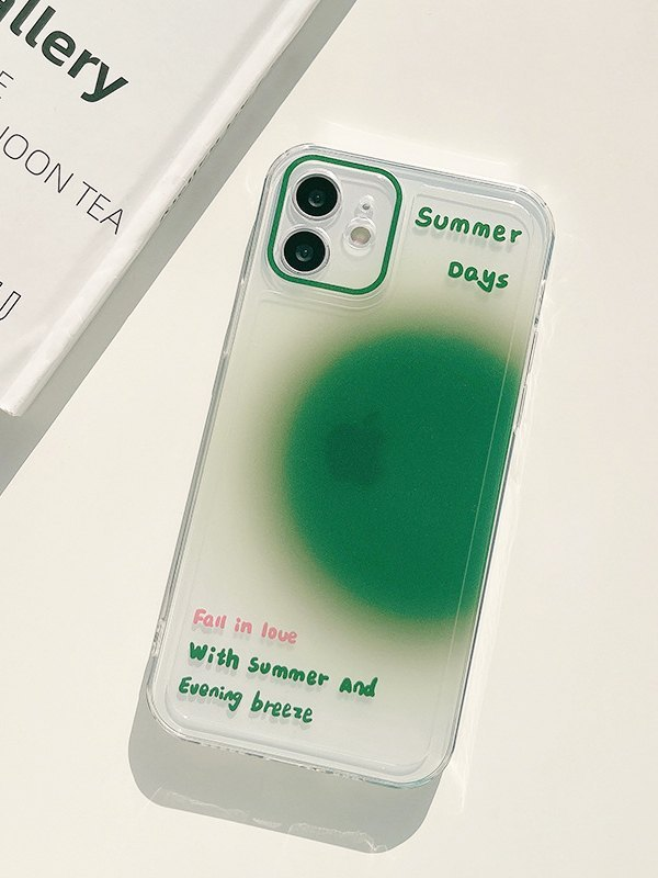 Gradient Heart-shaped Iphone Cases - Green iPhone 12Pro Max