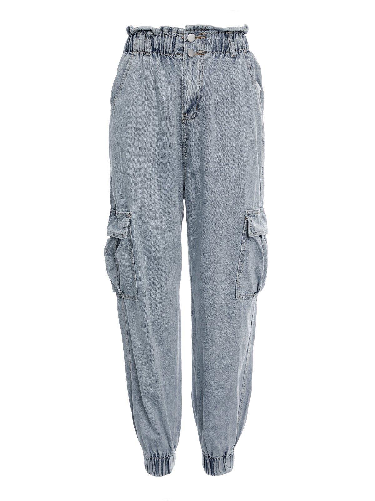 Paperbag Waist Cargo Jeans -