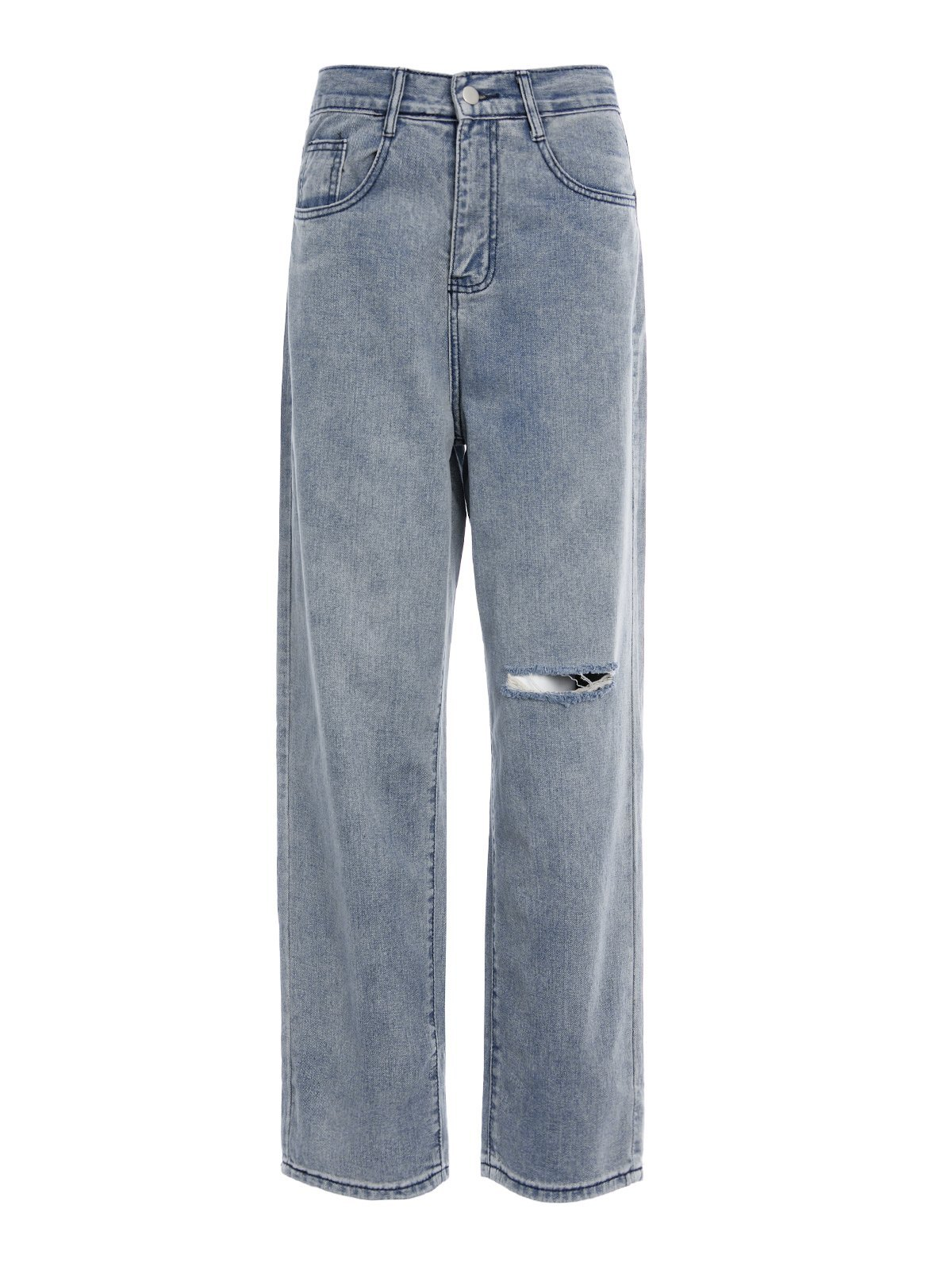 Basic Washed Ripped Jeans -