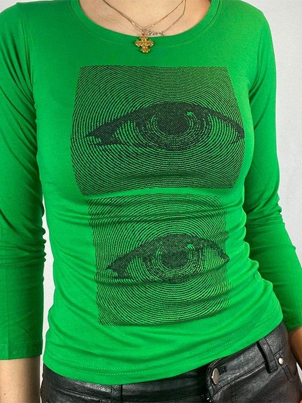 Dizzy Eye Graphic Long Sleeve Tee -