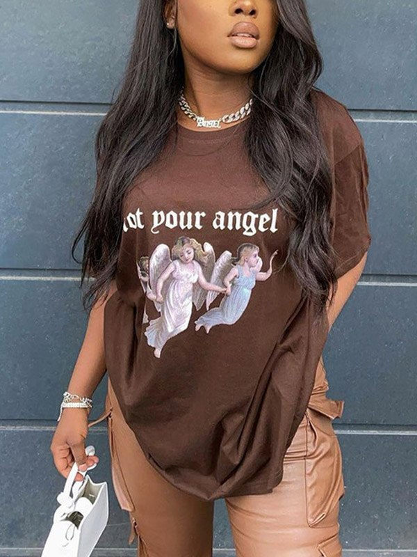Not Your Angel Oversized Tee -