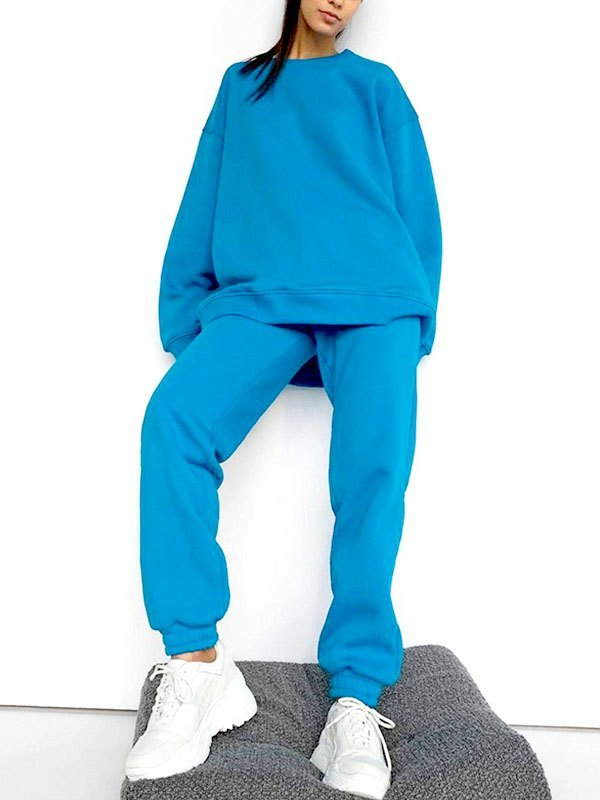 Relaxed Long Sleeve Tracksuit Set -