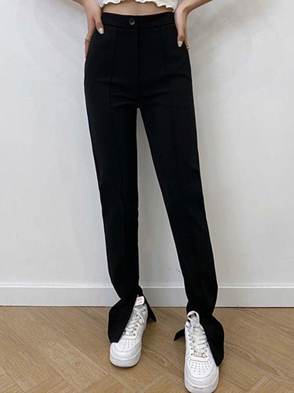 Split Hem Tailored Pants -