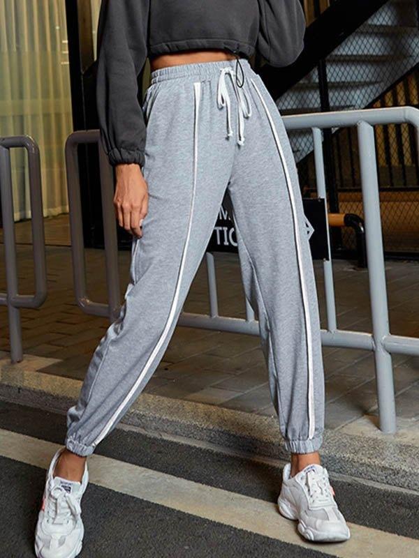 Stripe Detail Jogger Pants -
