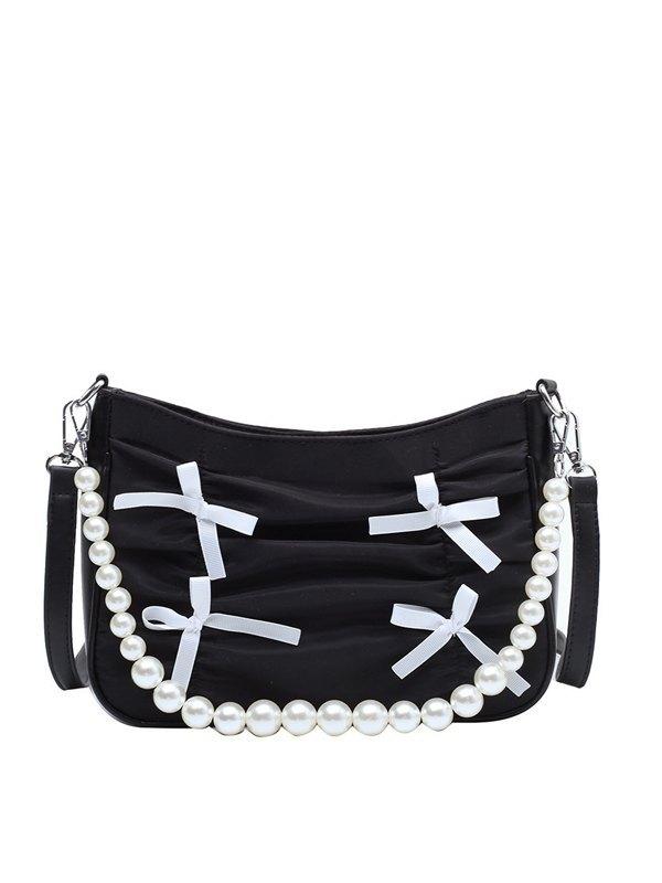 Folds Pearl Shoulder Bag -